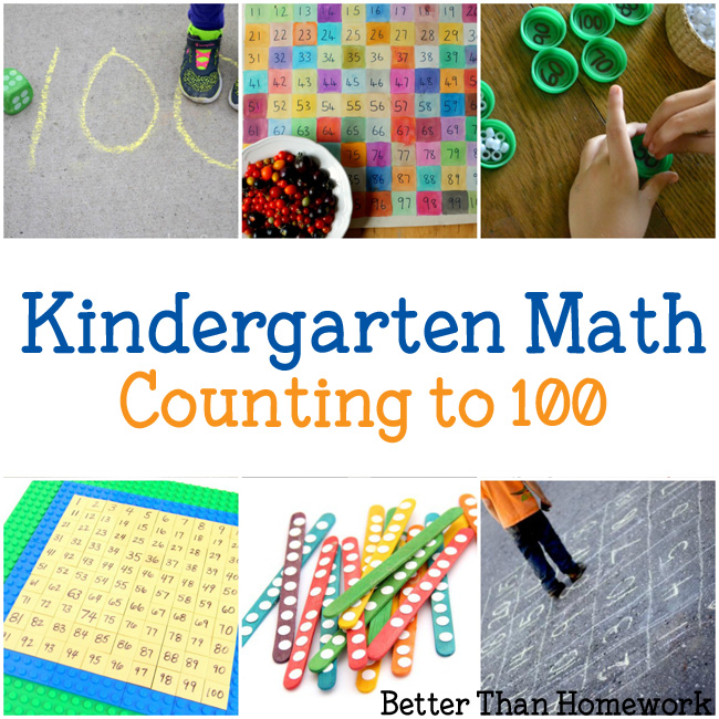 Kindergarten Math: Hands-on learning activities to help your child with counting to 100 by ones and tens.