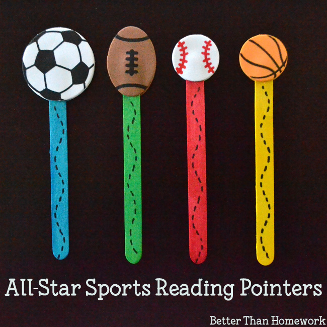 Hit a home run with these simple All-Star Sports Reading Pointers that will help your new reading keep their place on a page.
