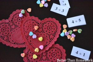 Candy Hearts Valentine's Day Math Activity