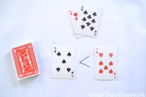 Exploring Greater Than and Less Than with Playing Cards