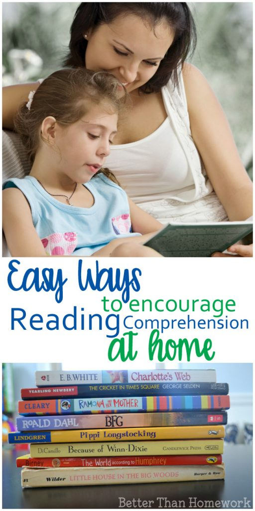 Easy ways to help with reading comprehension during read aloud time at home.