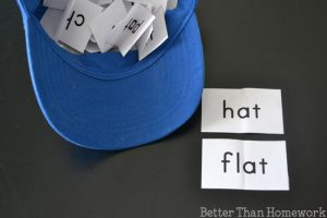 The -at Hat: Word Family Game