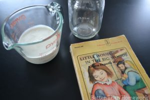 Making Butter – Little House Inspired Science