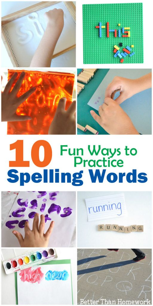 10 fun and hands-on ways to practice spelling words. Fun ways to prepare for spelling tests at home or in the classroom.