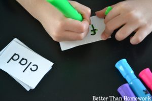 AD Word Family Activity: Highlighter Words