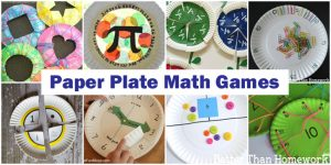 Math Paper Plate Games
