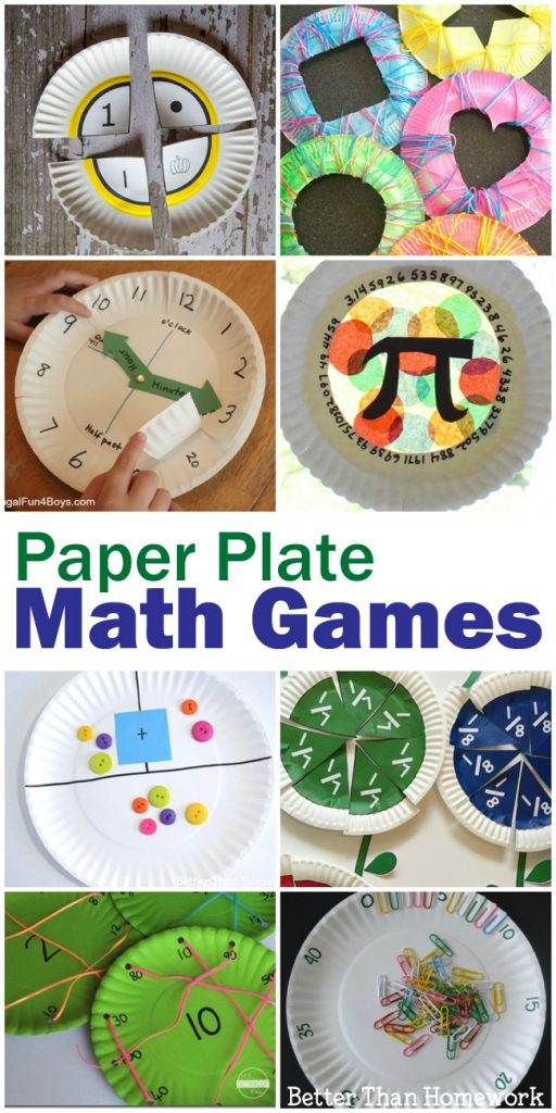 All of these math paper plate games are easy to make and can turn math into a fun, hands-on activity. You'll find activities for all elementary grades.