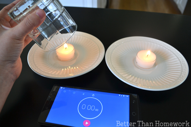 Explore how fire needs oxygen to burn with this simple Jack Be Nimble science activity for kids. How long will Jack's candle burn?