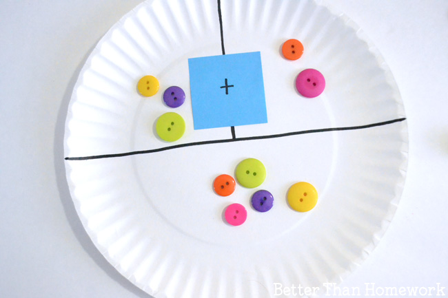 Make a simple DIY paper plate addition game to help your child practice their addition and : make your own paper plates - pezcame.com