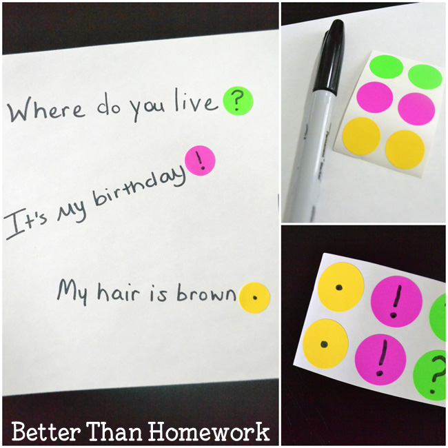 Punctuation Stickers