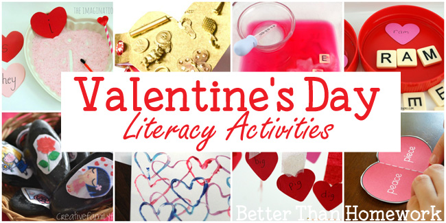 Practice reading and writing with one of these Valentine's Day literacy activities.