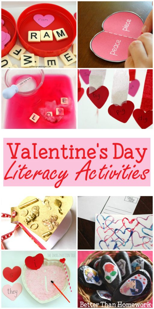 Practice reading and writing with one of these fun Valentine's Day literacy activities perfect for kids in kindergarten through fifth grade. #literacy #ValentinesDay #BetterThanHomework