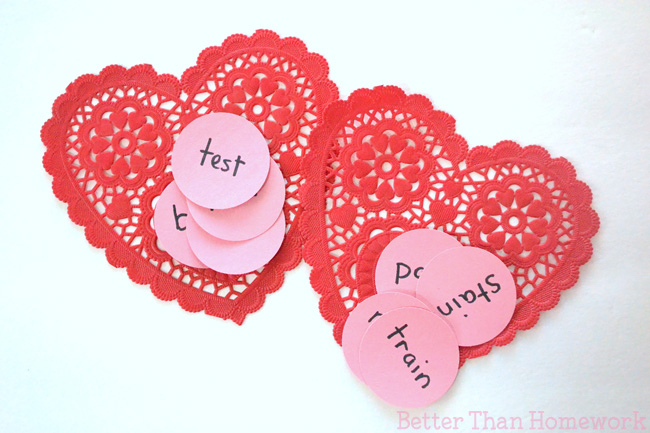 Practice word families with a fun Valentine reading game.