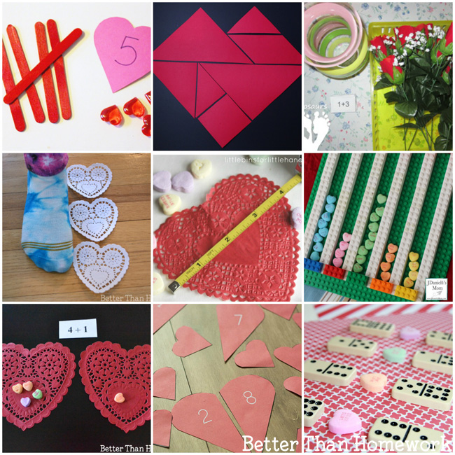 Fun Valentine's Day math activities for elementary-aged kids.