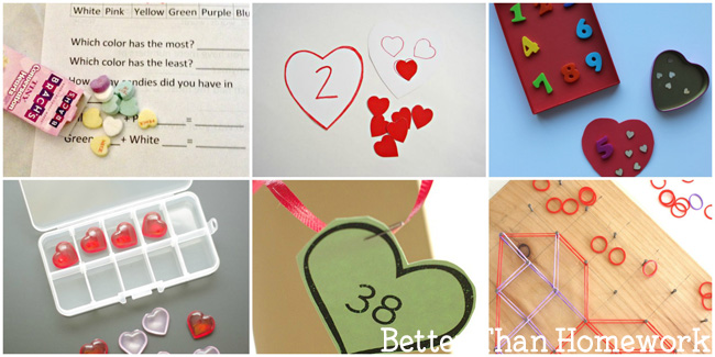 You'll love these fun Valentine's Day math activities that are perfect for school and home. There are ideas for grades kindergarten through sixth grade.