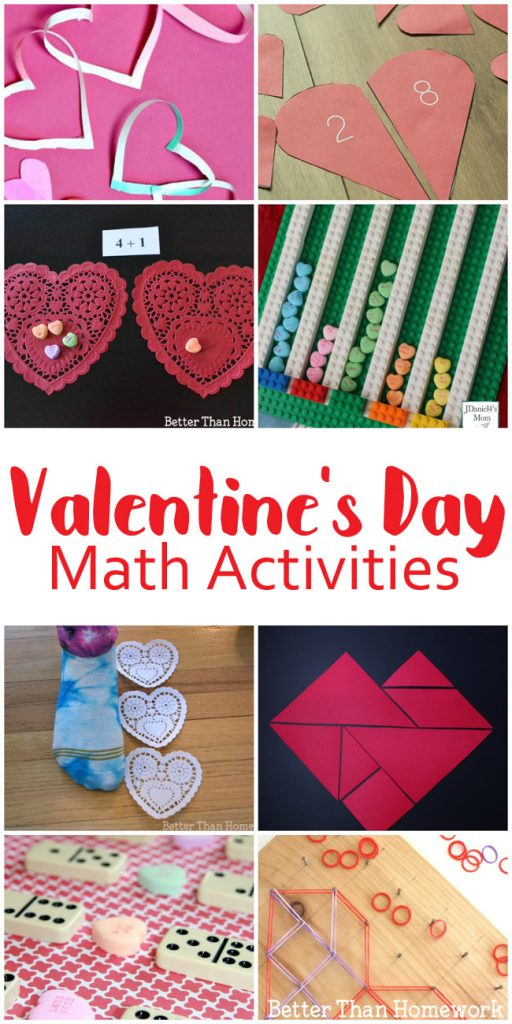 You'll love these fun Valentine's Day math activities that are perfect for school and home. There are ideas for grades kindergarten through sixth grade. #Math #ValentinesDay #BetterThanHomework