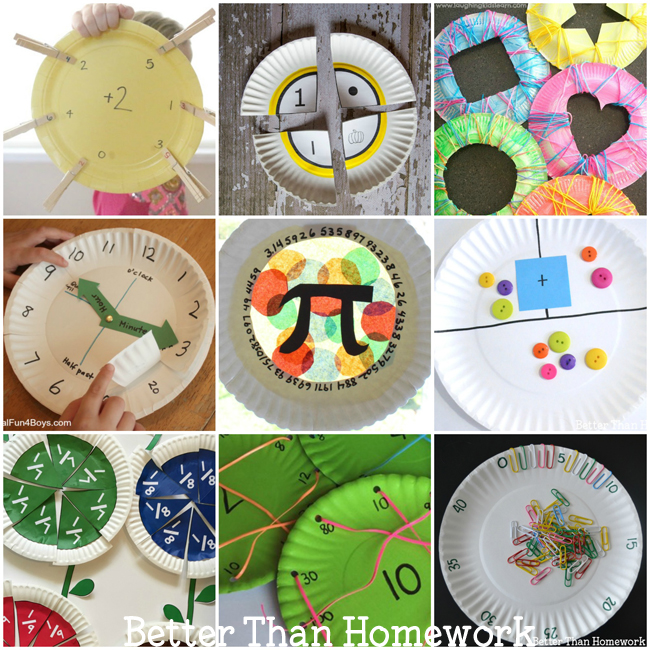 All of these math paper plate games are easy to make and can turn math into  sc 1 st  Better Than Homework & Math Paper Plate Games - Better Than Homework