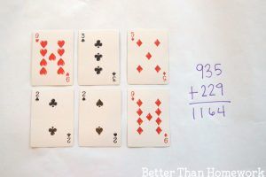 Three Digit Addition With Playing Cards
