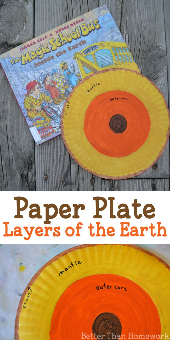 Use paper plates to make this simple earth science activity a Layers of the Earth  sc 1 st  Better Than Homework & Paper Plate Layers of the Earth Project - Better Than Homework