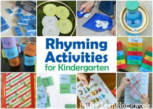 Fun Rhyming Activities for Kindergarten