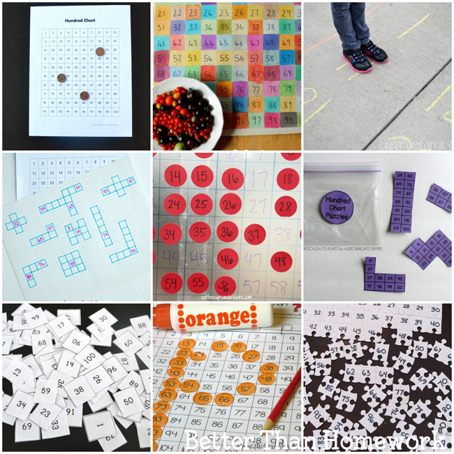 Learn and play with one of these 12 Fun Hundred Chart Games and Activities. The ideas are varied from gross motor to quiet time activities.