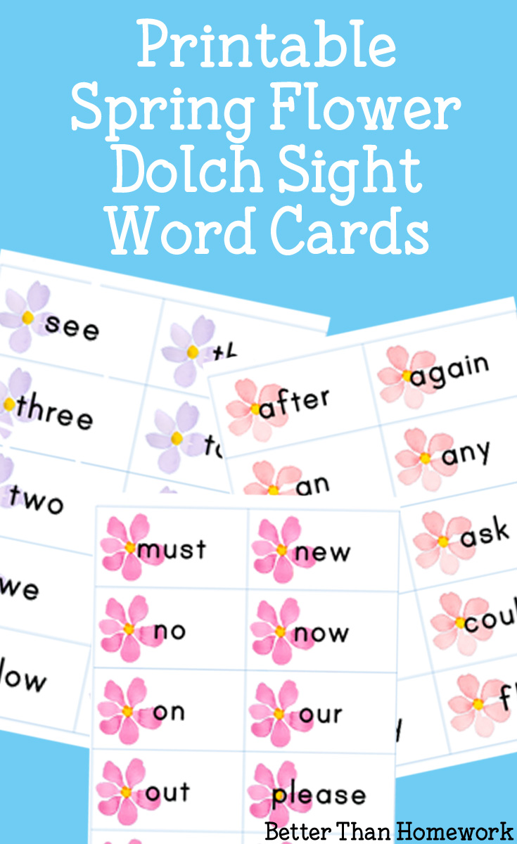 Printable Spring Flower Sight Words - Better Than Homework