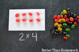 Multiplication Practice with Jelly Bean Arrays
