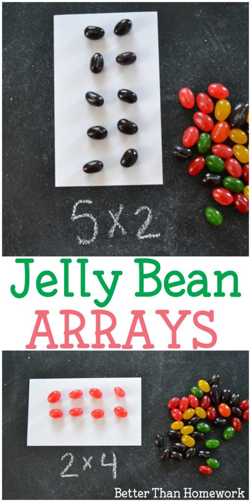 Learn about and practice multiplication with Jelly Bean Arrays. This fun Easter math activity is a great way to practice multiplying and is so much fun.
