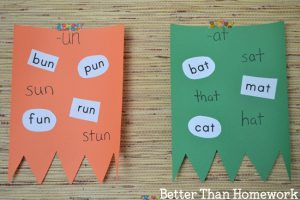 Word Family Flags Activity